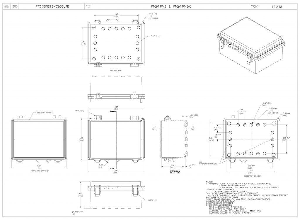 PTQ-11048-C Dimensions
