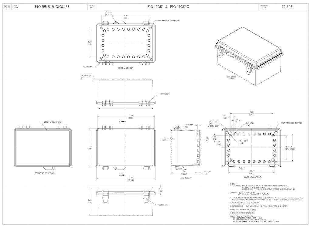 PTQ-11057-C Dimensions