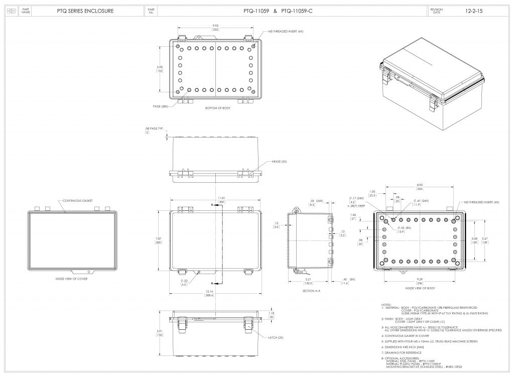 PTQ-11059-C Dimensions