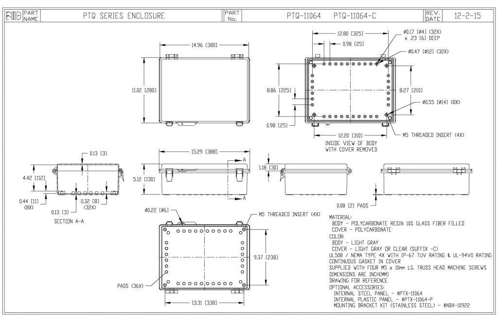 PTQ-11064 Dimensions