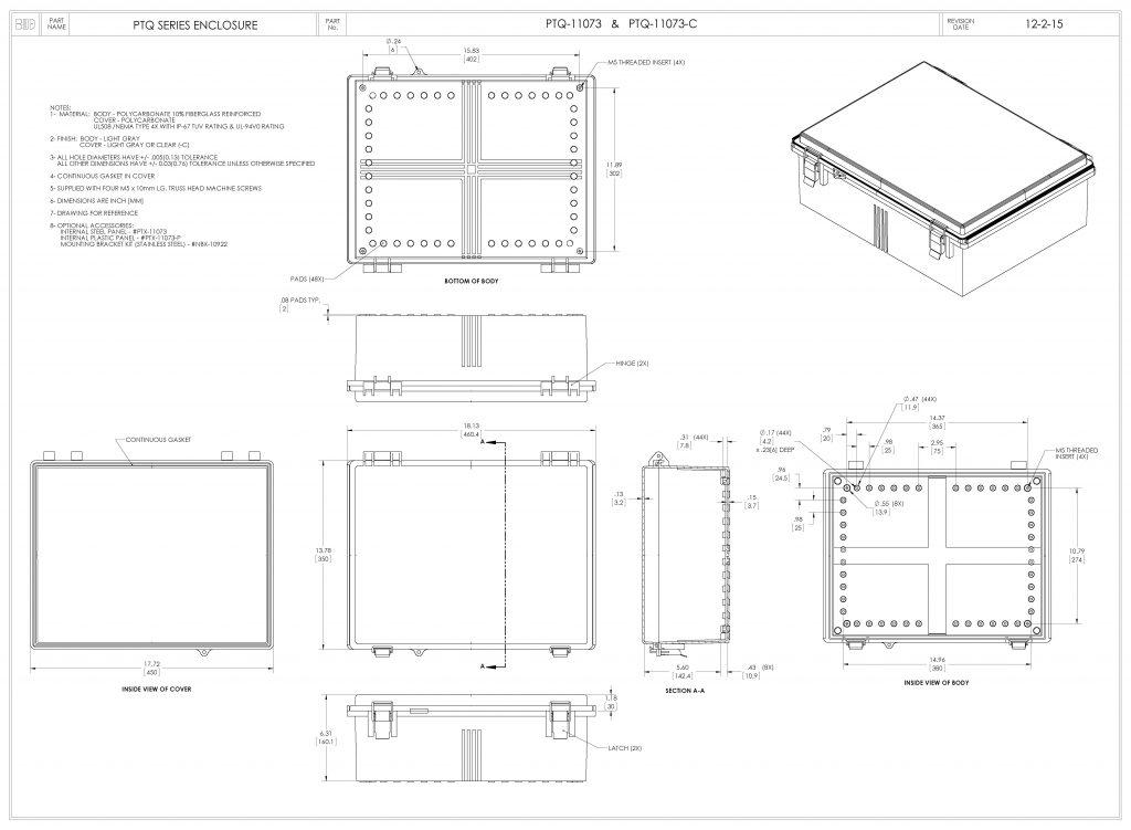 PTQ-11073 Dimensions