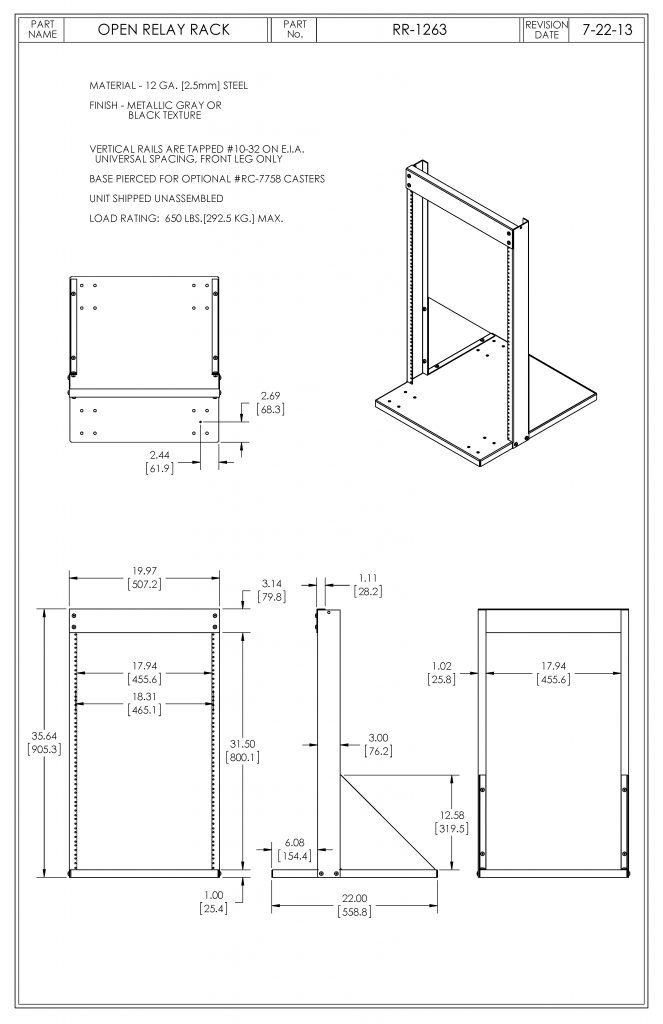RR-1263-BT Dimensions