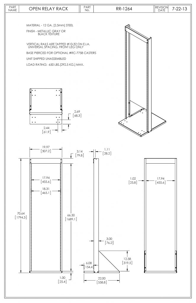 RR-1264-BT Dimensions