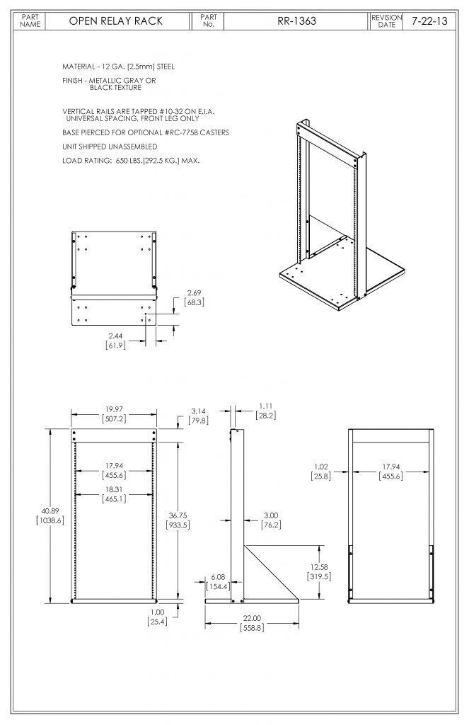 RR-1363-MG Dimensions