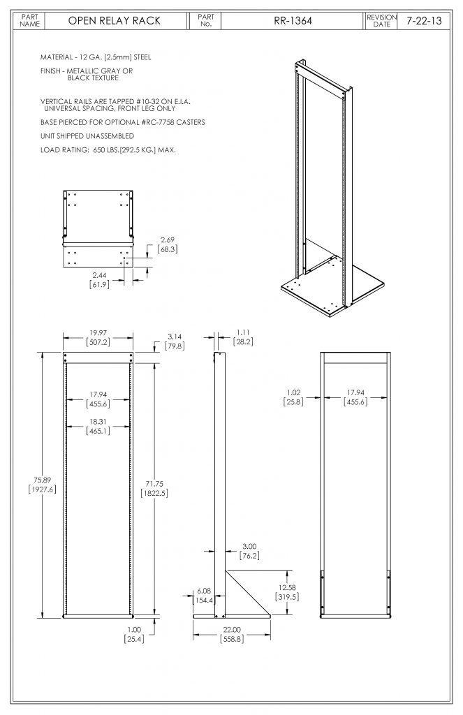 RR-1364-MG Dimensions