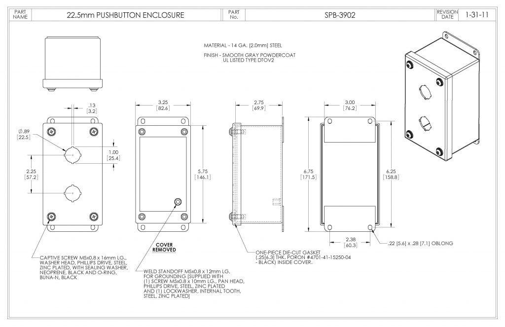 SPB-3902 Dimensions