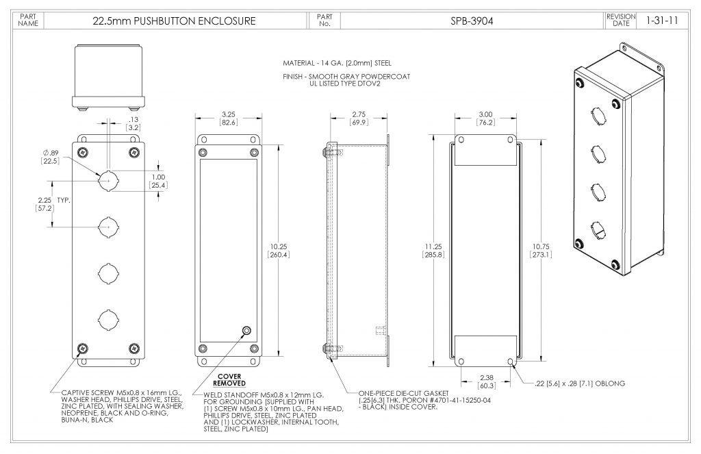 SPB-3904 Dimensions