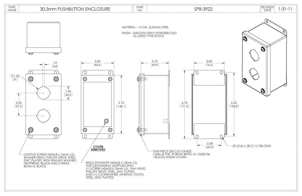 SPB-3922 Dimensions