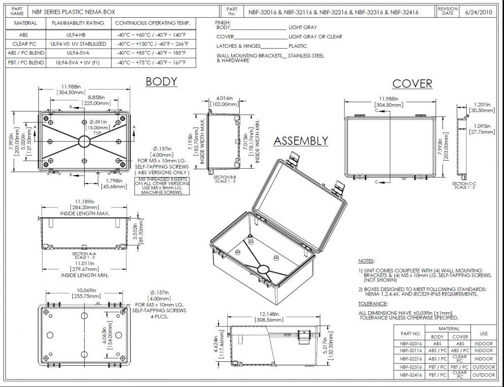 NBF-32216 Dimensions