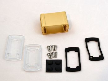 Extruded Aluminum Enclosure Gold with plastic cover EXN-23350-GDP