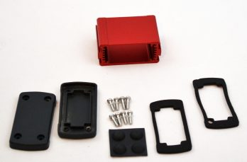 Extruded Aluminum Enclosure Red EXN-23350-RD