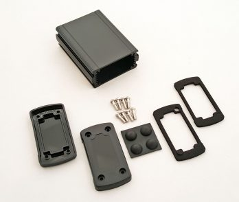 Extruded Aluminum Enclosure Black with plastic cover EXN-23351-BKP