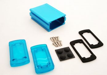 Extruded Aluminum Enclosure Blue with Plastic Cover EXN-23351-BLP
