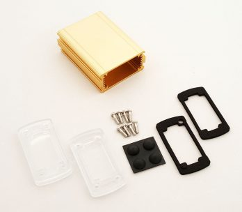 Extruded Aluminum Enclosure Gold with plastic cover EXN-23351-GDP