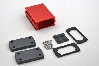 Extruded Aluminum Enclosure Red EXN-23351-RD