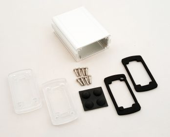 Extruded Aluminum Enclosure Silver with Plastic Cover EXN-23351-SVP