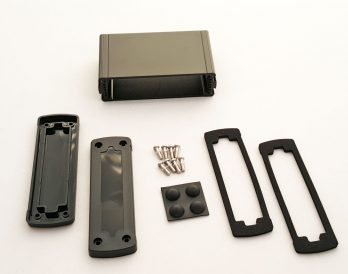Extruded Aluminum Enclosure Black with plastic cover EXN-23353-BKP