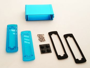 Extruded Aluminum Enclosure Blue with Plastic Cover EXN-23353-BLP