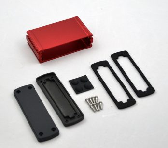 Extruded Aluminum Enclosure Red EXN-23353-RD