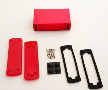 Extruded Aluminum Enclosure Red with Plastic Cover EXN-23353-RDP