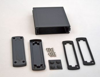 Extruded Aluminum Enclosure Black with plastic cover EXN-23354-BKP