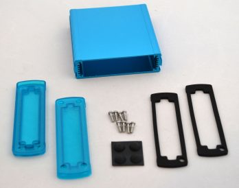 Extruded Aluminum Enclosure Blue with Plastic Cover EXN-23354-BLP