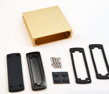 Extruded Aluminum Enclosure Gold EXN-23354-GD