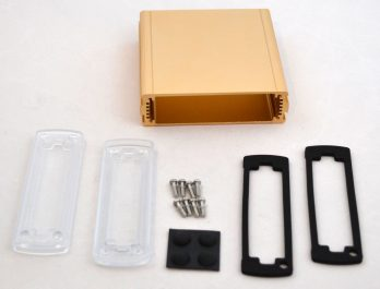 Extruded Aluminum Enclosure Gold with plastic cover EXN-23354-GDP