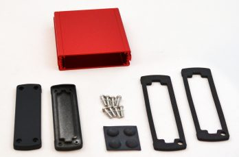 Extruded Aluminum Enclosure Red EXN-23354-RD