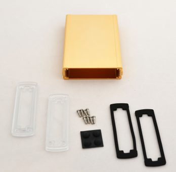Extruded Aluminum Enclosure Gold with plastic cover EXN-23355-GDP