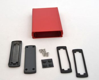 Extruded Aluminum Enclosure Red EXN-23355-RD