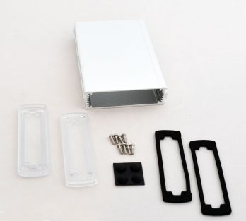 Extruded Aluminum Enclosure Silver with Plastic Cover EXN-23355-SVP