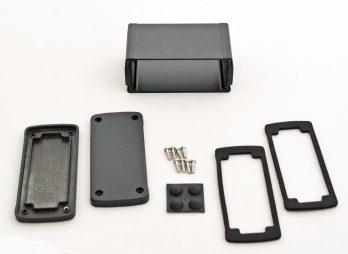 Extruded Aluminum Enclosure Black EXN-23356-BK
