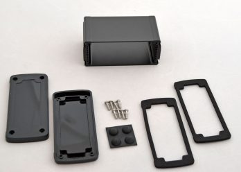 Extruded Aluminum Enclosure Black with plastic cover EXN-23356-BKP