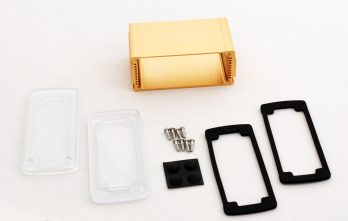 Extruded Aluminum Enclosure Gold with plastic cover EXN-23356-GDP