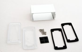 Extruded Aluminum Enclosure Silver with Plastic Cover EXN-23356-SVP