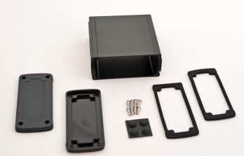 Extruded Aluminum Enclosure Black with plastic cover EXN-23357-BKP