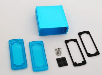 Extruded Aluminum Enclosure Blue with Plastic Cover EXN-23357-BLP