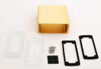 Extruded Aluminum Enclosure Gold with plastic cover EXN-23357-GDP