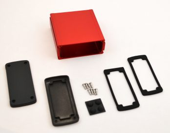 Extruded Aluminum Enclosure Red EXN-23357-RD