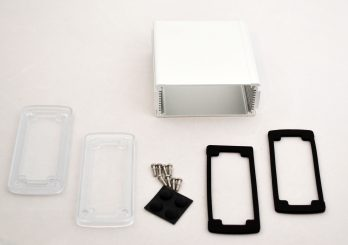 Extruded Aluminum Enclosure Silver with Plastic Cover EXN-23357-SVP