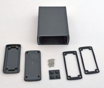 Extruded Aluminum Enclosure Black with plastic cover EXN-23358-BKP