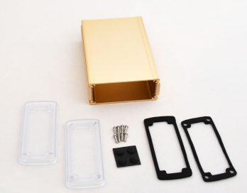 Extruded Aluminum Enclosure Gold with plastic cover EXN-23358-GDP