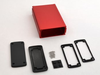 Extruded Aluminum Enclosure Red EXN-23358-RD