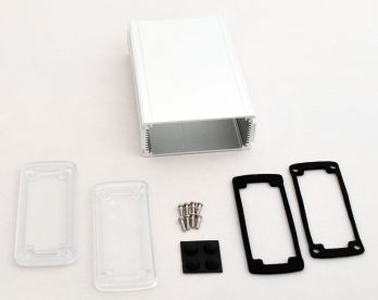 Extruded Aluminum Enclosure Silver with Plastic Cover EXN-23358-SVP
