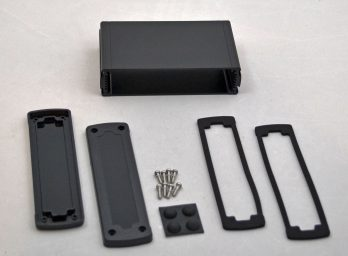 Extruded Aluminum Enclosure Black with plastic cover EXN-23359-BKP