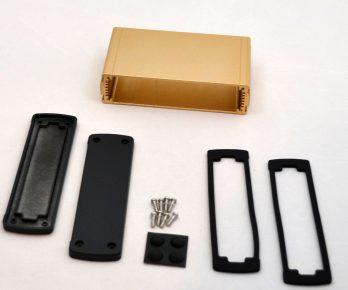 Extruded Aluminum Enclosure Gold EXN-23359-GD