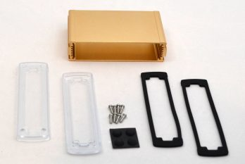Extruded Aluminum Enclosure Gold with plastic cover EXN-23359-GDP