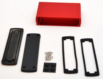 Extruded Aluminum Enclosure Red EXN-23359-RD