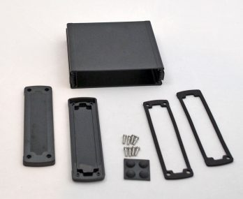 Extruded Aluminum Enclosure Black with plastic cover EXN-23360-BKP